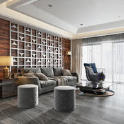 后现代风格客厅沙发背景墙装修效果图赏析