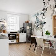 北欧风格餐厅创意吊灯设计装修效果图