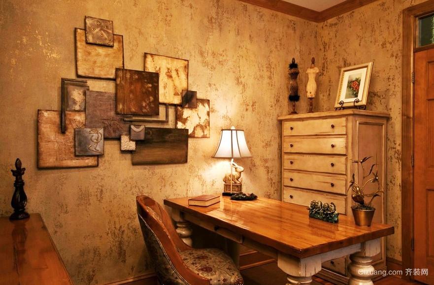 复古美式风格书房设计装修效果图赏析