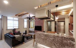 135平米现代工业风格大户型室内装修效果图