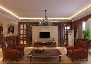 146平米古典欧式风格大户型室内装修效果图案例