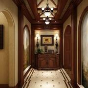 古典欧式风格别墅室内过道吊顶装修效果图赏析