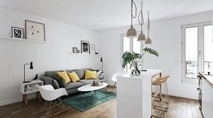 北欧风格小户型客厅吧台装修效果图赏析