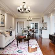 简欧风格三居室客厅吊灯装修效果图