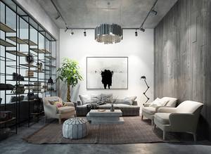 30平米后现代风格客厅隔断装修效果图赏析