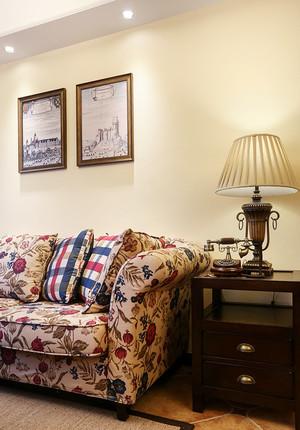 美式田园风格两室两厅一厨一卫装修效果图