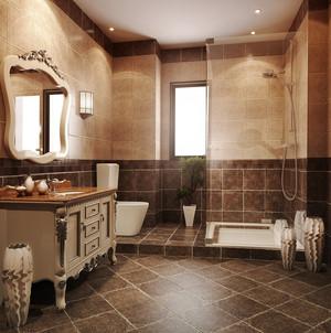 古典欧式风格别墅室内卫生间淋浴房装修效果图