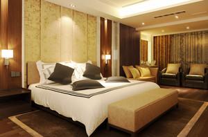 30平米东南亚风格卧室背景墙装修效果图