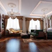 古典欧式风格别墅室内卧室装修效果图