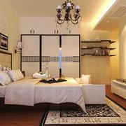 简欧风格大户型室内卧室入墙式衣柜装修效果图