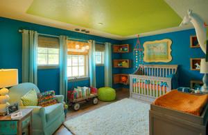 美式混搭风格婴儿房装修效果图赏析