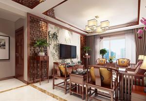 古典雅致中式风格大户型室内装修效果图