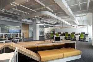 70平米后现代风格办公室装修效果图赏析