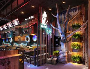 50平米乡村风格餐厅设计装修效果图赏析