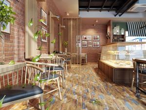 50平米自然简约乡村风格商铺面包店设计效果图