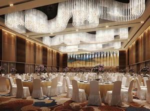 120平米欧式风格酒店大厅吊顶设计装修效果图