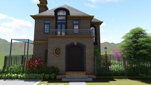 欧式风格独栋别墅户型图装修效果图