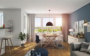 北欧风格小户型餐厅窗帘设计装修效果图
