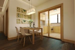 宜家风格三居室室内厨房餐厅隔断装修效果图赏析