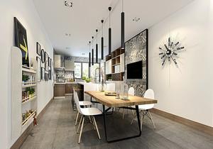 宜家简约风格餐厅背景墙装修设计效果图赏析