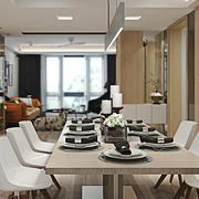 后现代简约风格大户型室内餐厅吊灯设计效果图
