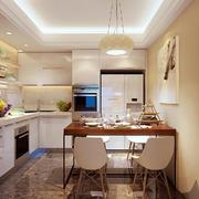 现代简约风格小户型餐厅厨房一体设计装修效果图