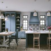 现代简约美式风格大户型整体厨房装修效果图赏析