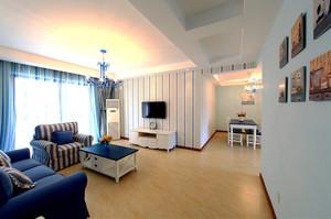 现代地中海风格两室两厅一厨一卫装修效果图