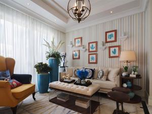 153平米地中海风格复式楼室内装修效果图赏析
