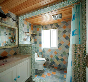 简约地中海风格三室两厅一卫装修效果图