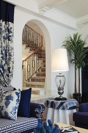 蓝色自然地中海风格别墅室内装修效果图赏析