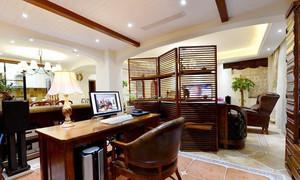 109平米复古美式风格两室两厅室内装修效果图赏析
