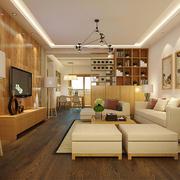 简约中式风格客厅博古架装修效果图赏析