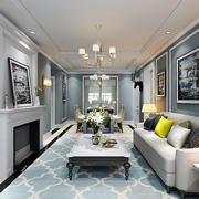精致简欧风格大户型室内客厅装修效果图