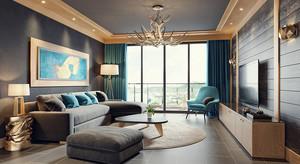 北欧风格大户型室内客厅创意吊灯设计效果图
