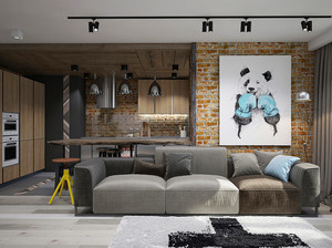 60平米小户型现代loft风格室内装修效果图赏析
