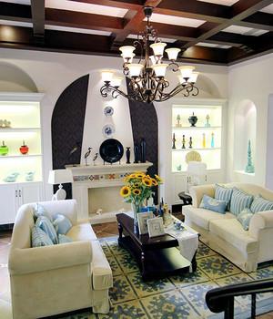 现代简约轻快美式风格别墅室内装修装修效果图