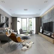 后现代风格大户型室内客厅电视背景墙效果图