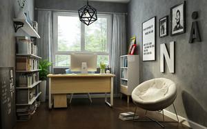 8平米北欧风格小书房设计效果图赏析