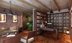 46平米后现代风格客厅书房设计装修效果图赏析