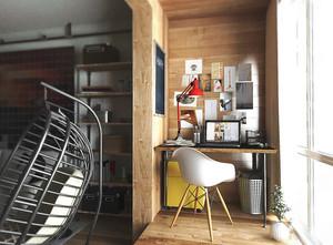 50平米现代简约风格中性冷色单身公寓装修效果图