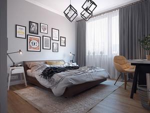 北欧风格卧室照片墙装修效果图