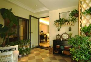 自然欧式田园风格两室两厅一卫装修效果图