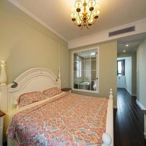 116平米美式田园风格三室两厅一厨一卫装修效果图