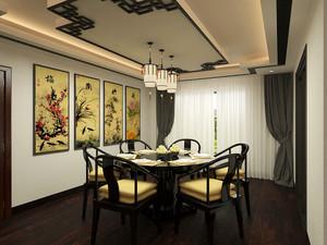 古典中式风格两室两厅室内装修效果图赏析