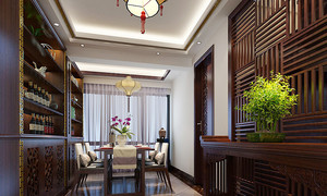 200平米中式风格别墅室内装修效果图