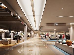 187平米现代风格服装店展柜装修效果图