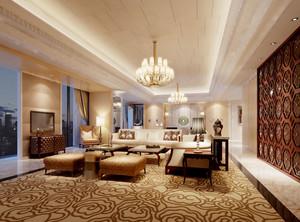 152平米现代风格会客厅装修设计效果图