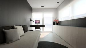 60平米后现代风格单身公寓室内装修效果图