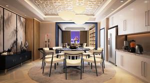 110平米现代风格餐厅背景墙效果图赏析